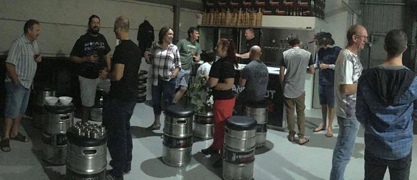 The Bandicoot brewery in full swing